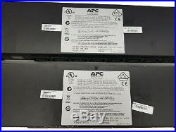2 pcs APC AP7921 1U 16A 208/230V Input (8)C13 Switched Rack PDU