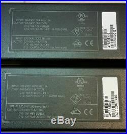 2x APC by Schneider Electric Metered Rack AP8858NA3 20-Outlets PDU READ DESCRIPT