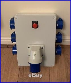 32Amp-6x16Amp 230V Distro/Distribution Unit. Temporary/Theatre/Event Power