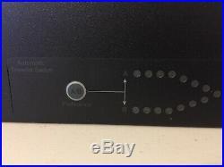 APC AP4453 Rack-Mounted Automatic Transfer Switch Redundant Switch