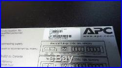 APC AP7723 RACK ATS, 20A/208V, 16A/230V, C20 IN, (8) C13 (1) C19 OUT Automatic