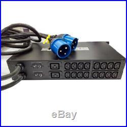 APC AP7724 Automatic Transfer Switch Rack 2U 230V 32A IEC309-32A 16x C13 2x C19