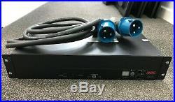 APC AP7724, Rack ATS, 2U 230V, 32A, IEC309-32A In, (16)C13, (2)C19 Out