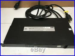 APC AP7752 10-Outlet/120V, 16A. 50/60HZ Rack-mount Transfer Switches L6-30P (C12)