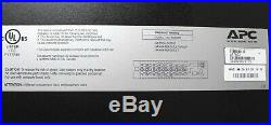 APC AP7802 Metered Rack Mountable PDU 2U 120V 30A 16-Outlet NEMA 5-20R
