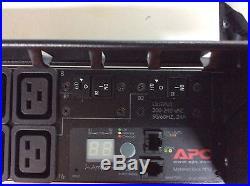 APC AP7811 2U 24A 208V 16 Outlet Metered Rack Power Distribution Unit
