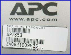 APC AP7853 32A 230V 20xC13 4xC19 Rack ZeroU Metered PDU Power Distribution Unit