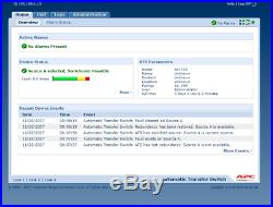 APC Auto Transfer AP7723 ATS 16A Used Factory Reset / Firmware updated