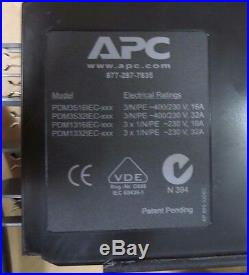 APC Power Distribution Module 3x1Pole 3Wire 230v 32A 3M 3.6M 4.2M PDM1332IEC-3P