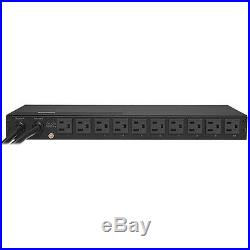 10 X 2 Cyberpower Pdu15m10at Metered Ats Pdu 120v 15a 1u 10-outlets 5-15p
