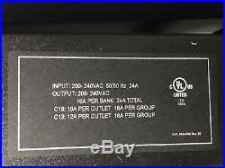 Dell APC Metered Rack PDU 6805 200v 208V 220V 240V L6-30P 20x C13 6x C19