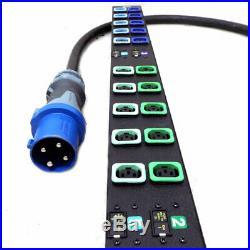 Geist MN02X9W1-30L138-6PS15B0A10-S 30 Outlet Locking IEC C13 48Amp 208V PDU