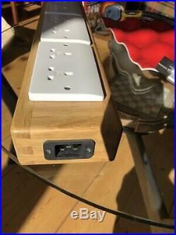 HiFi In Touch Mains Power Block 8 gang solid oak, Zion cable, Russ Andrews fuse