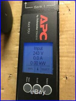 LOT OF 3 APC AP8841 Rack PDU 2G Metered ZeroU 30A 200/208V 200-240V