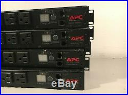 Lot of 4 APC AP7801B Metered Rack PDU 1U 20A 120V (8)5-20 withEars Tested Warranty