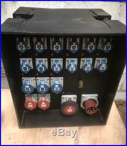 Mains Power Distribution Distro Box. Stage, Site, Electrical & Event Panel Board