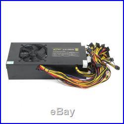 Mining Machine 2800W PSU Power Supply 6GPU Eth Rig Coin Miner Antminer S7 S9