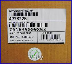 -NEW- APC Schneider AP7822B Rack PDU, Metered, 2U, 32A, 230V, (12) C13 & (4) C19
