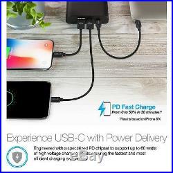 Naztech 60W USB-C PD Super Speed Portable 26800 mAH Battery