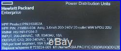 New HPE H5M57A Basic 3.6kVA 240V/16A 20 Outlets C13/Vertical WW PDU 719884-004