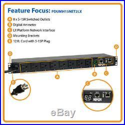 Tripp-Lite PDUMH15NET2LX 1.4kW Single-Phase Switched PDU, LX Platform Interface